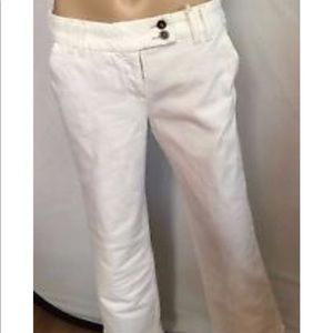White wide leg trouser jeans